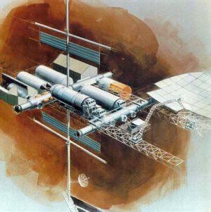 Odvážný návrh Space Operations Center společnosti Boeing z roku 1981