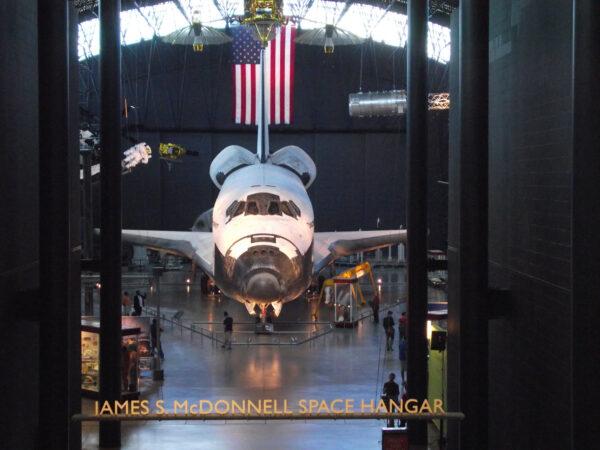 Raketoplán Discovery je dnes v Udvar-Hazy Center ve Virginii.