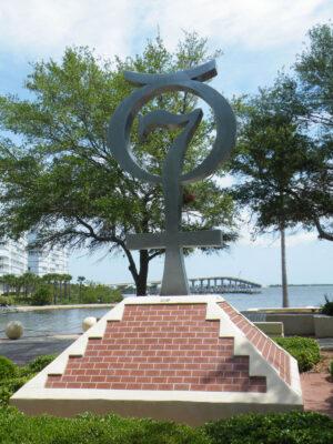 Památník programu Mercury ve městě Titusville.