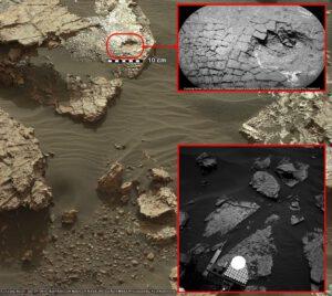 Praskliny v kameni, sol 1555, Curiosity/NASA/JPL-Caltech