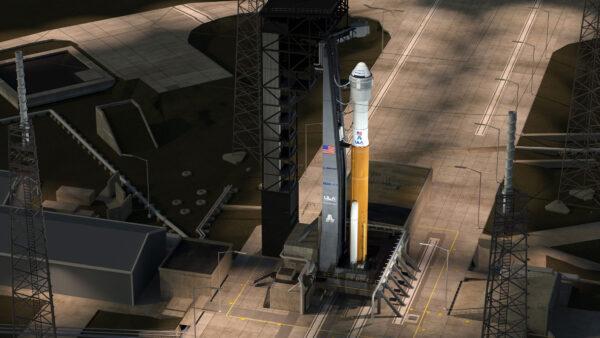 Sestava AtlasV/Starliner se dočkala válcové prodloužení pod servisním modulem lodi.