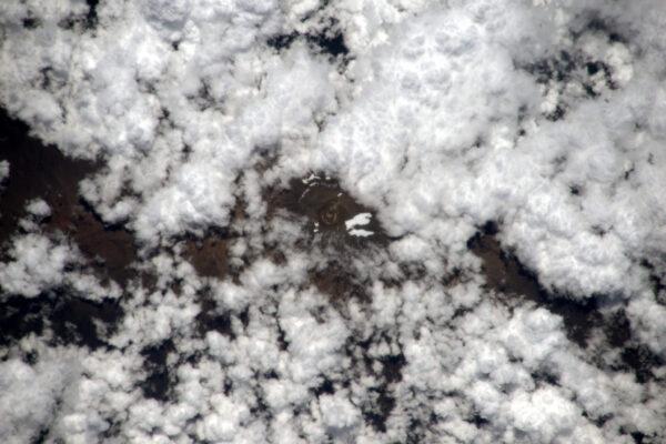Kilimandžáro – nejvyšší vrchol Afriky si dnes obléklo šátek z mraků. Nedokážu si představit, jaké to je, stoupat skrz mraky a dostat se k osluněnému vrcholku.