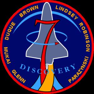 Emblém mise STS-95, který navrhnul Steve Robinson