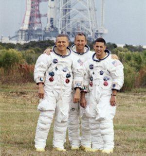 Posádka lodi Apollo 8 (zleva Borman, Lovell, Anders)