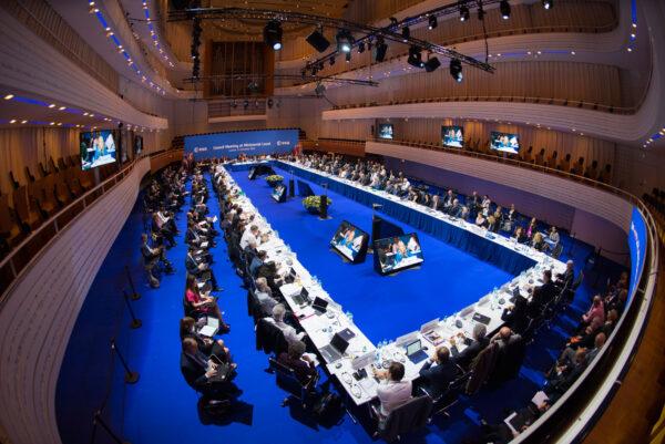 Snímek ze sjezdu evropských politiků ve švýcarském Luzernu