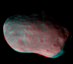 3D snímek Phobosu ze sondy TGO