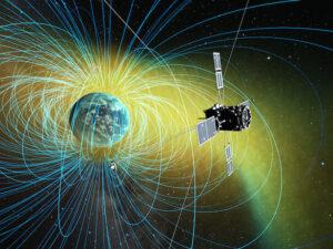 Vizualizace sondy ERG na oběžné dráze