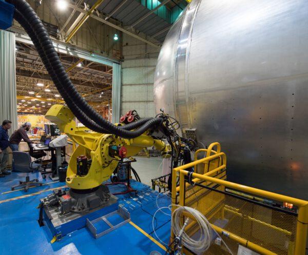 Vodíková nádrž pro SLS