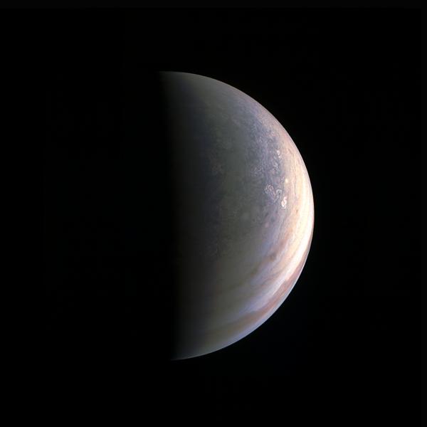 Jupiter z nadhledu