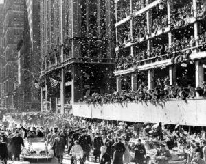 Přivítání Johna Glenna v New Yorku 1. března 1962.
