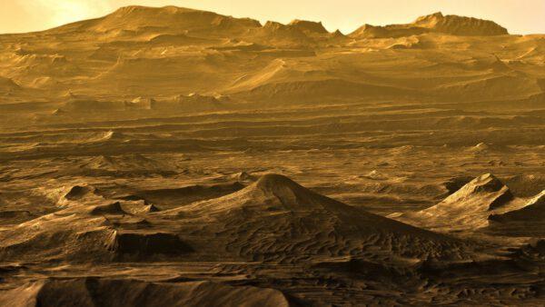 Mars na vizualizaci