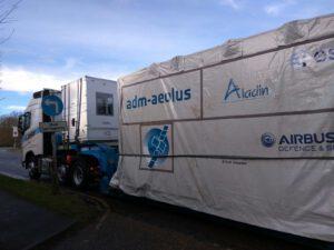 Aeolus na cestě z Velké Británie do Francie