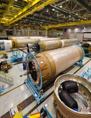 Výrobní linka raket Atlas V