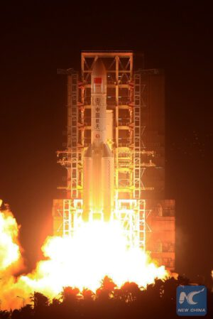 Historicky první start rakety CZ-5