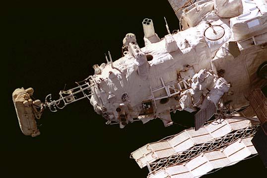 Záložní přechodová komora byla na stanici Mir na modulu Kvant-2