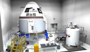 Simulace plnění CST-100 Starliner provozními látkami