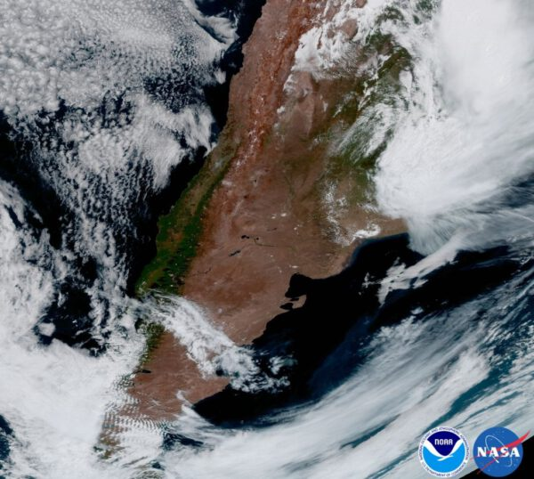 Jižní Amerika pod závojem oblačnosti