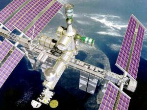Umělecká rekonstrukce vesmírné stanice Alpha