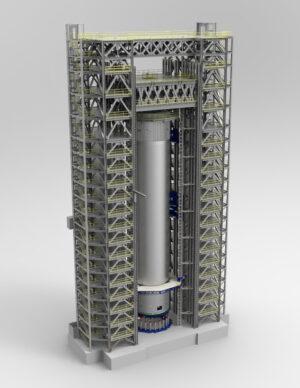 Vizualizace zkoušek vodíkové nádrže na stanovišti 4693 Marshallova střediska