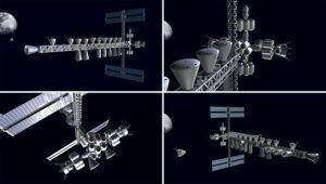 Teoretická podoba mezinárodní stanice v cis-lunárním prostoru