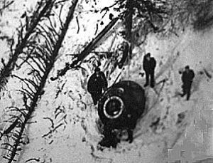 Údajný záběr z místa přistání Sojuzu-10
