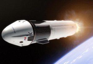 Dragon 2 vyráží vstříc Měsíci - zatím jen jako umělecká představa.