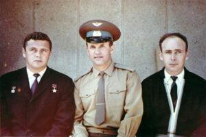 Definitivní posádka Sojuzu-11: (zleva) Volkov, Dobrovolskij, Pacajev