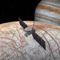Vizualizace sondy Europa Clipper