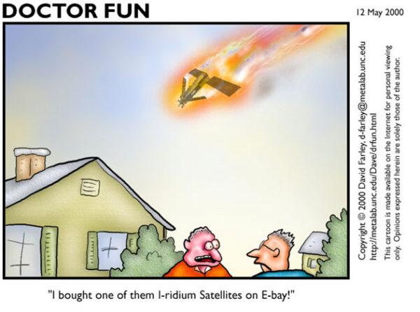 Vtip z roku 2000 o chystaném zničení systému Iridium