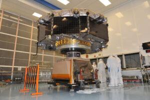 Družice MMS při rotační zkoušce