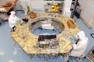 Fotka z výroby družice MMS
