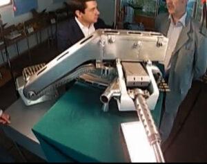 Vzácný snímek z televizního dokumentu, zachycující kanón R-23M