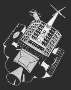 Teoretická podoba družic NOSS ze začátku programu.