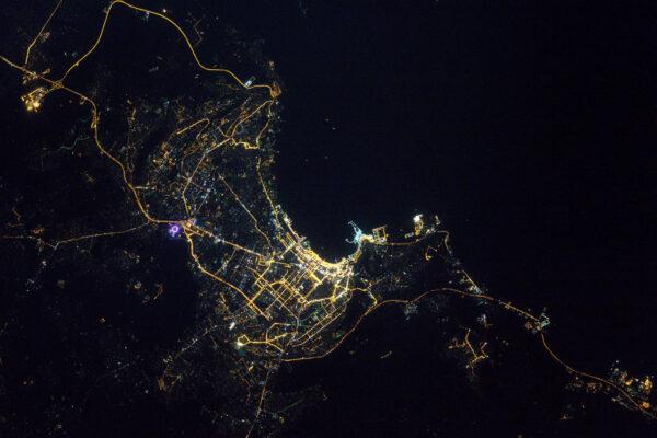 Baku, Ázerbájdžán – na březích Kaspického moře.