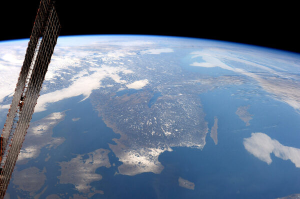 Hej Sverige! Severní část Evropy je pokryta bílou barvou.
