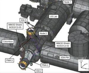 Finální konfigurace modulů PMA a adaptérů IDA pro přílet soukromých pilotovaných lodí.