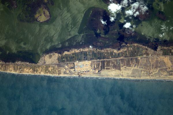 Pestrobarevné egyptské pobřeží.