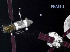 Ke stanici DSG přilétá loď Orion.