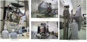 Sonda Juno v montážní hale.