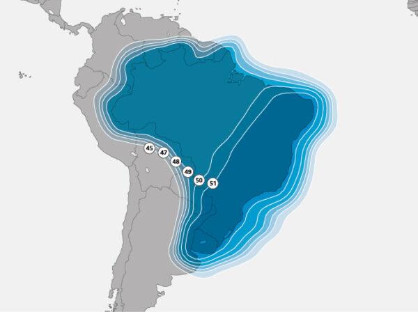 Větev dedikovaná pro Brazílii.
