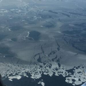 Čukotské moře nasnímané během operace IceBridge. Družice ICESat-2 dokáže mnohem rychleji zmapovat výrazně větší území.