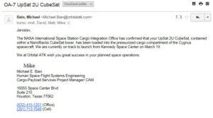 Potvrzující email o účasti
