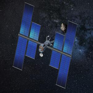 Umělecká představa sondy s flexibilními solárními panely.