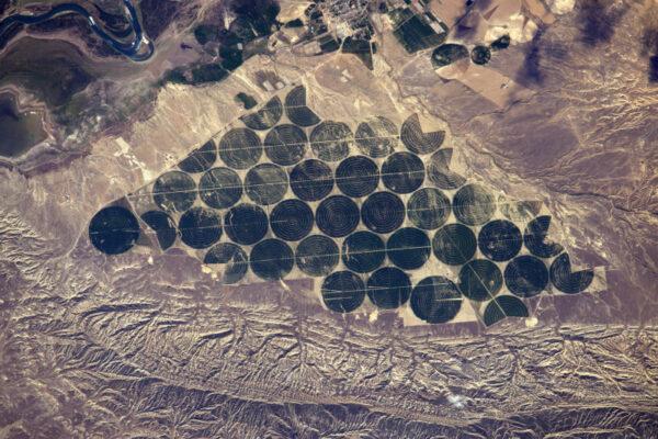 Perfektní geometrická pole v Ázerbájdžánu.