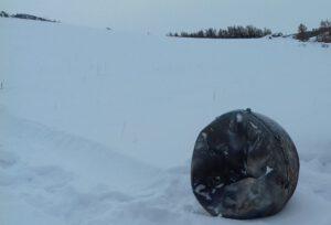 Trosky Progressu MS-04 nalezené poblíž města Kyzyl v Tuvínské oblasti