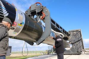 Žehnání raketě Electron od domorodých Maorů