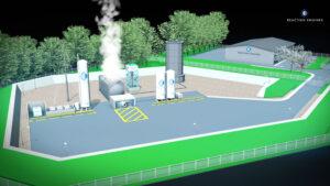 Vizualizace testovacího stanoviště pro motory SABRE