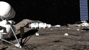 Představa Měsíční základny v podání soukromé společnosti Lin Industrial