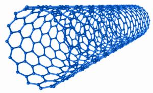 Vizualizace uhlíkové nanotrubičky.