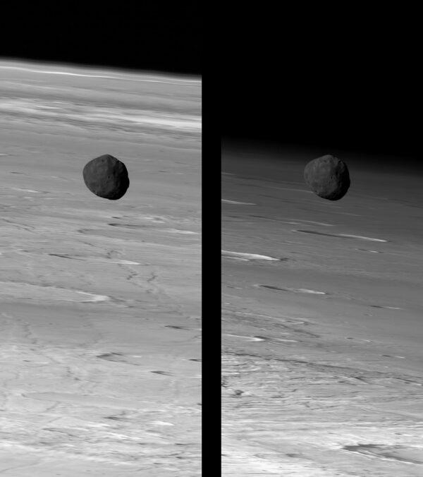 Phobos z Mars Express / kamera HRSC. Zdroj: ESA/DLR/FU Berlin
